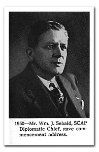 This photo of Mr. Sebald was published in the 1951 Forward as one of the distinguished visitors to Saint Joseph.
