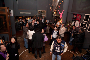 A very nice mingle of people from different schools and age attended this party